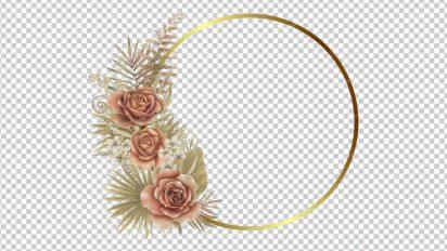 وکتور png دایره گل دار