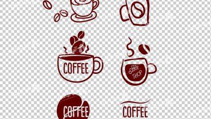 وکتور png کافه و قهوه 25