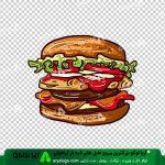وکتور png ساندویچ 57