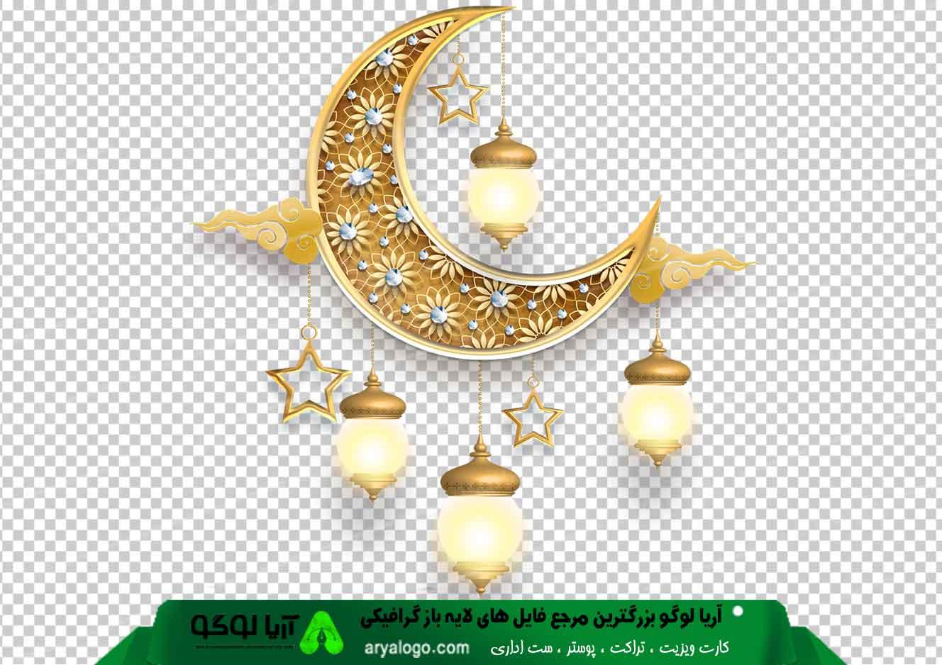وکتور png ماه رمضان 21