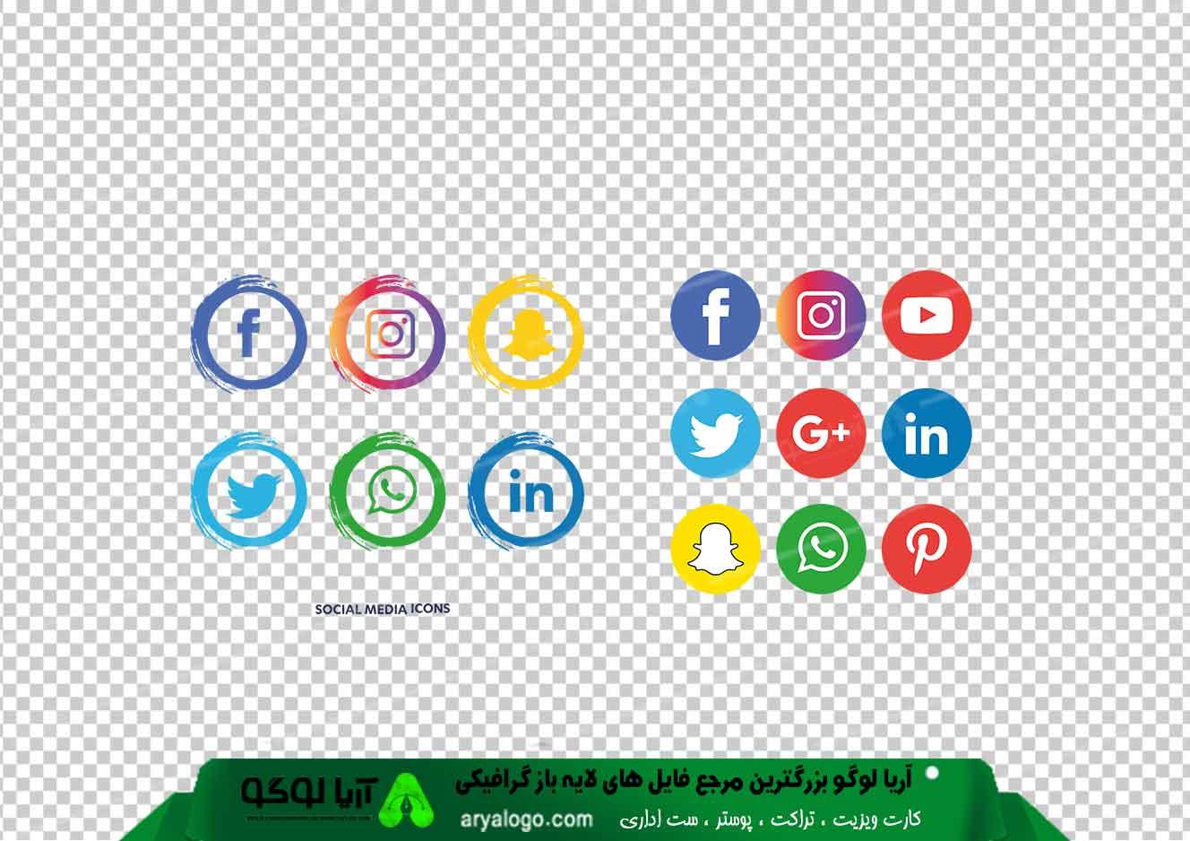 آیکون شبکه های اجتماعی