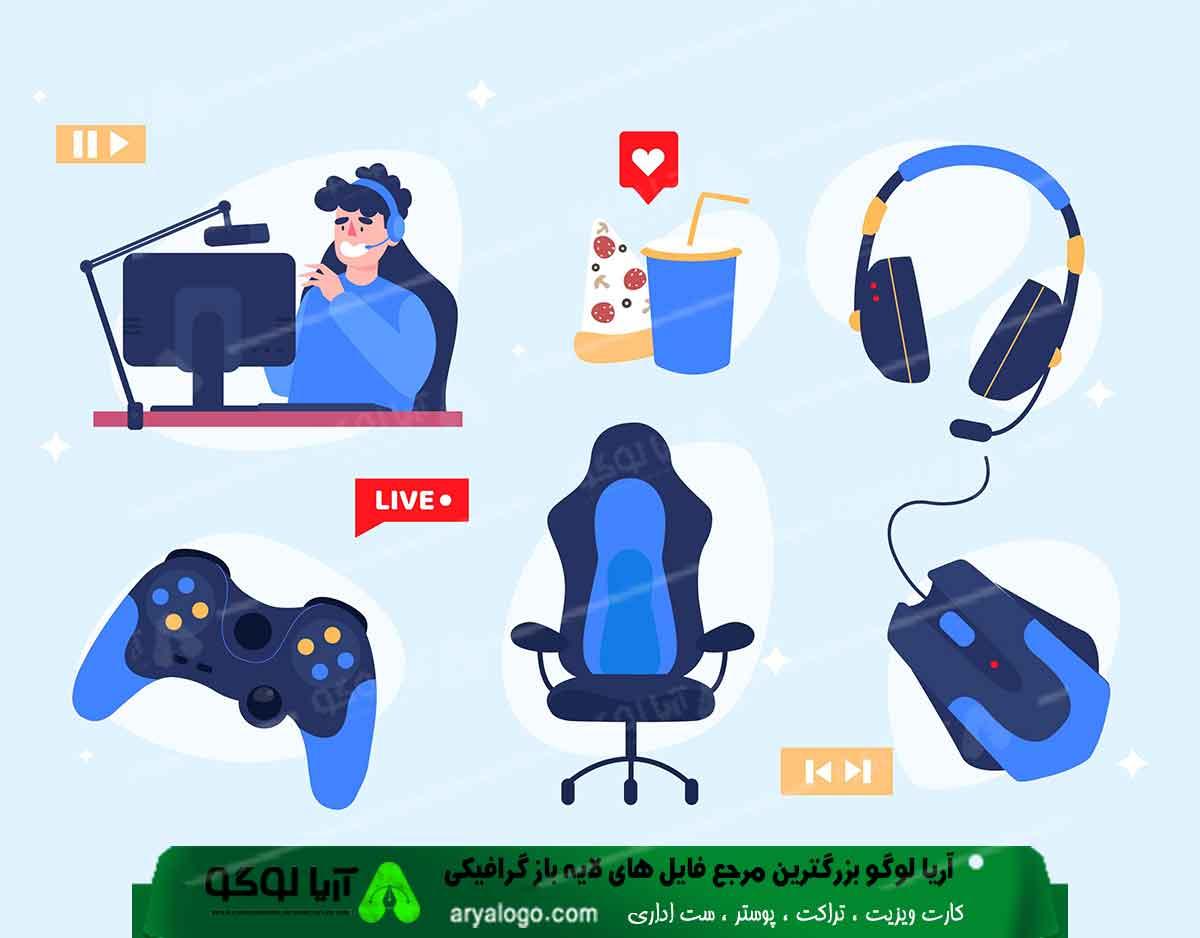 وکتور گیمینگ vector gaming طرح3
