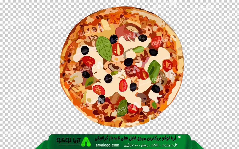 عکس png پیتزا طرح 2