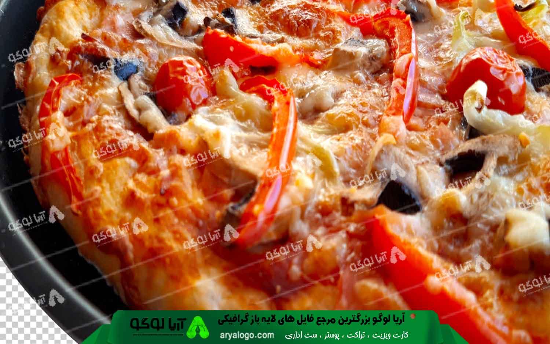 عکس png پیتزا طرح 7