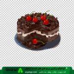 عکس png کیک شکلاتی